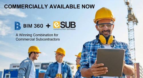 eSUB + BIM 360 Integration