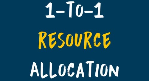 1-to-1 Resource Allocation | FAO 101