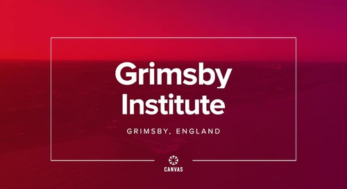 Video: Grimsby Institute & Canvas