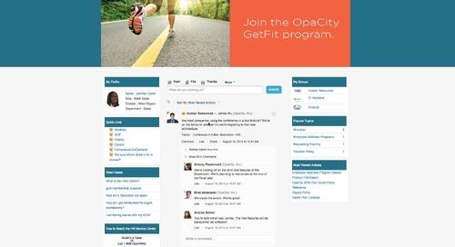 Demo Video: OpaCity Employee Community Overview