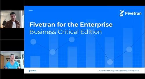 Business Critical Fivetran for Enterprise