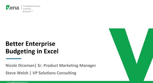 Better Enterprise Budgeting in Microsoft Excel
