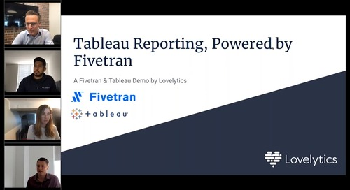 Fivetran + Tableau: Simplifying Your Data Integration & Analytics
