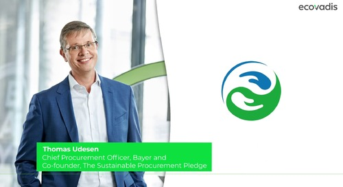 Thomas Udesen, Chief Procurement Officer Discusses How Bayer is Using EcoVadis