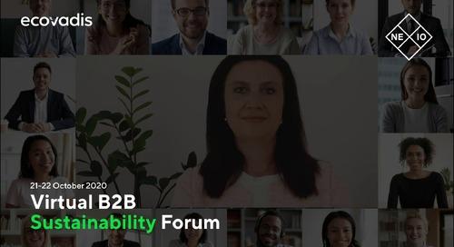 Firmenich Invitation To The EcoVadis 2020 B2B Sustainability Forum