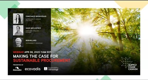 Making the Case for Sustainable Procurement with Cascades and Sustainability Advantage