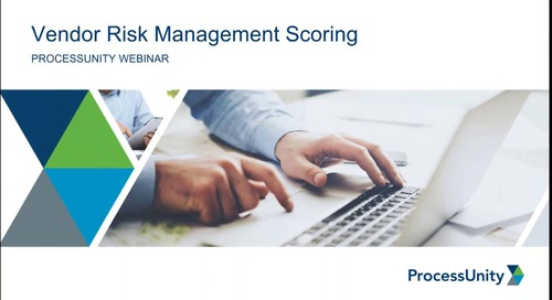 Best Practices in Vendor Risk Scoring