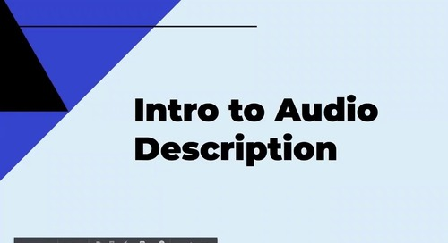 Intro to Audio Description