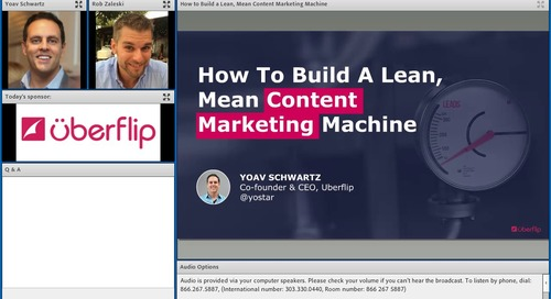 How to Build a Lean, Mean Content Marketing Machine
