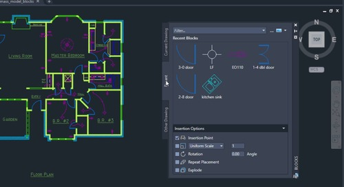 AutoCAD 2020 Feature Demo: Blocks Palette