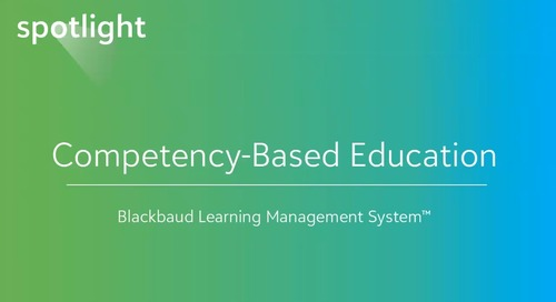 Competency-Based Education Software for K–12 Schools