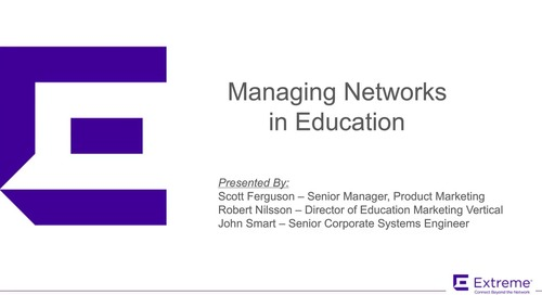 Managing Networks in Education