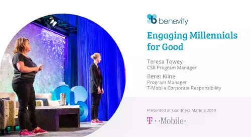 I10 - T-Mobile - Teresa Towey, CSR Program Manager & Beret Kline, Program Manager, T-Mobile Corporate Responsibility-