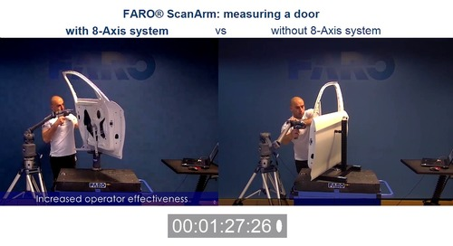 Speed test: how much faster is the ScanArm with an 8-Axis?