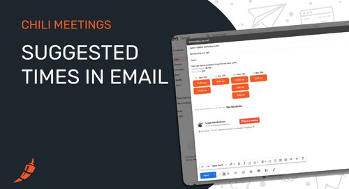One-Click Booking With Suggested Times In Email