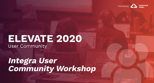 Integra User Community Workshop | ELEVATE 2020