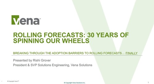 Rolling Forecasts: 30 Years of Spinning Our Wheels