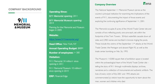 9/11 Memorial & Museum: A Journey to Actionable Budgeting & Reporting