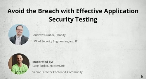 Avoid the Breach w/ Effective Application Security