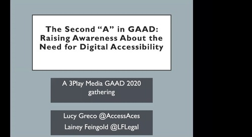 """The Second """"A"""" in GAAD: Raising Awareness About the Need for Digital Accessibility"""