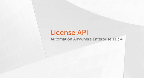 Enterprise 11.x Features - License API