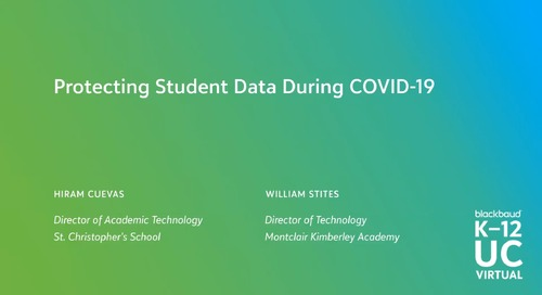 Protecting Student Data During COVID-19