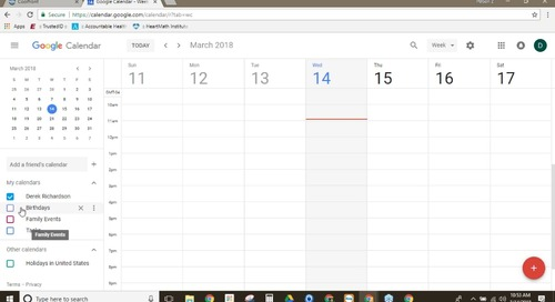 Coolfront Mobile Integration - Google Calendar