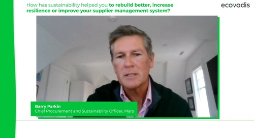 Barry Parkin, Chief Procurement and Sustainability Officer Talks About Rethinking Mars' Supply Chain