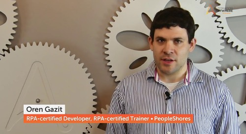 Oren Gazit | RPA-Certified Developer and Trainer