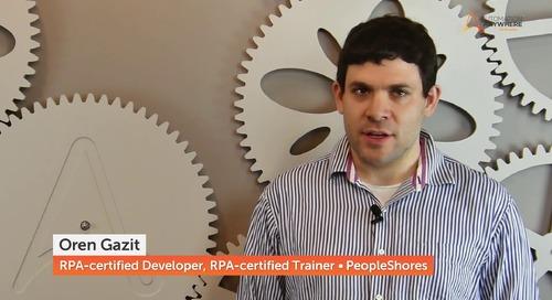Oren Gazit   RPA-Certified Developer and Trainer