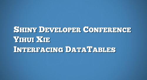 DataTables - Yihui Xie