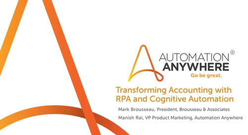 Transforming Accounting with RPA and Cognitive Automation