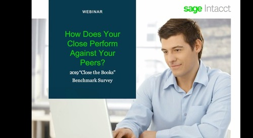 "How Does Your Close Perform Against Your Peers? 2019 ""Close the Books"" Benchmark Survey"