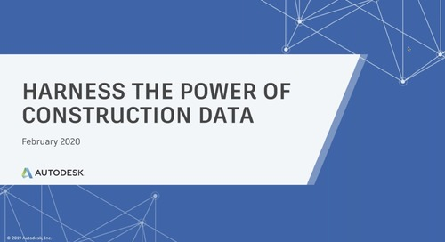 [On-Demand Webinar] Harness the Power of Construction Data