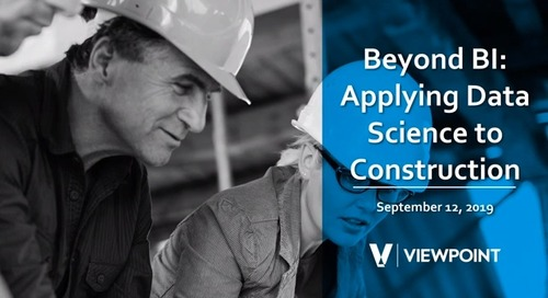 Beyond Business Intelligence - Applying Data Science to Construction