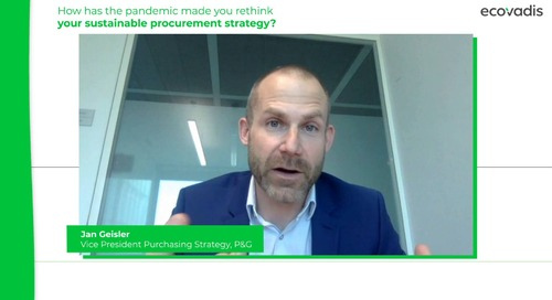 P&G discute su come ripensare la strategia di approvigionamento insieme alla sostenibilità aziendale.