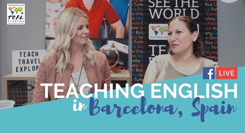 Teach English In Barcelona, Spain with Rachel Sair - TEFL Facebook Live