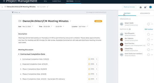 Meeting Minutes: How to attach documents to a meeting record or item