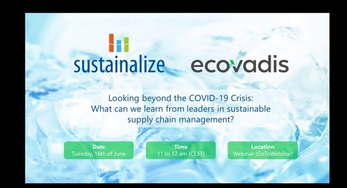 Supply Chain Management: Looking beyond the COVID-19 Crisis: with Wavin and Sustainalize