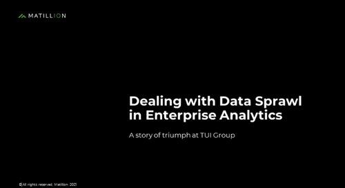 Webinar - Dealing with Data Sprawl in Enterprise Analytics [DBTA]