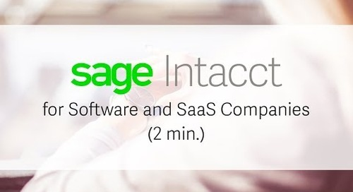 Sage Intacct for Software and SaaS Companies