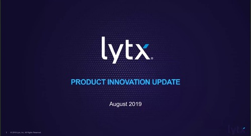 Product Innovation Update Aug-13-2019