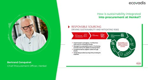 Bertrand Conquéret, CPO Discusses How Sustainability Is Integrated into Henkel's Procurement