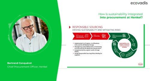 Comment le groupe Henkel intègre-t-il le développement durable dans ses processus d'achats?