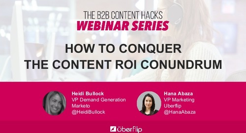 How to Conquer the Content ROI Conundrum