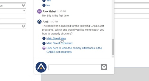 PrecisionLender CARES Act Andi Skill Demo