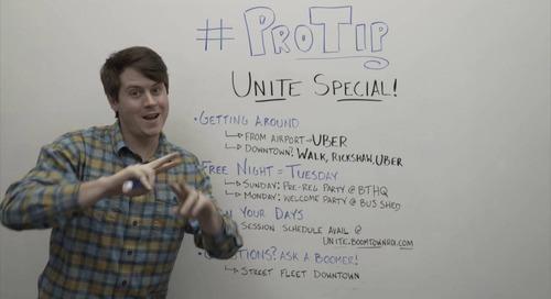 ProTip: Heading to Unite 2017? Take Two Minutes to Prepare Yourself