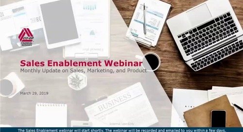 March 2019 - Monthly Sales Enablement Webinar (Internal)