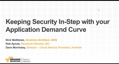 Keeping Security In-Step with your Application Demand Curve