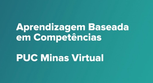 Webinars do Canvas - Aprendizagem Baseada em Competências - PUC Minas Virtual